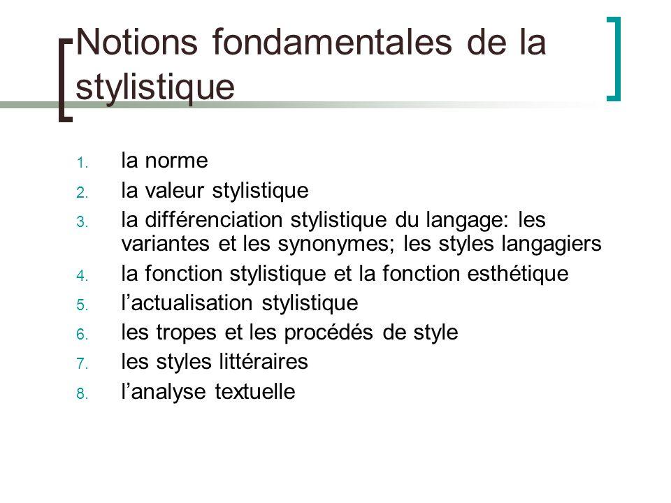 Notions Fondamentales De La Stylistique Fait Par Docteur Es Lettres