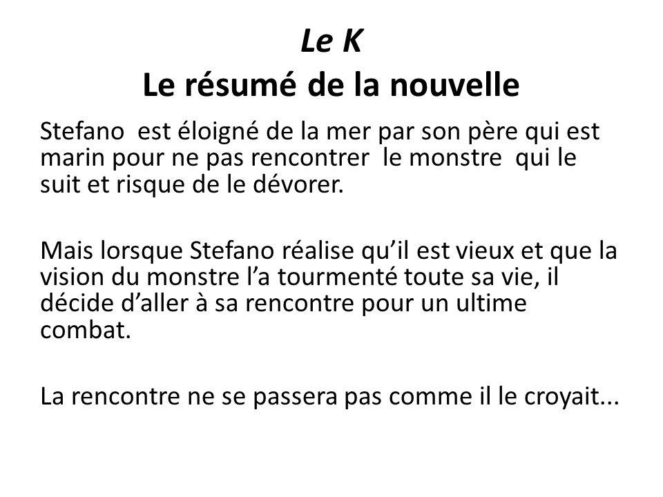 Resume Du Texte Le K De Dino Buzzati