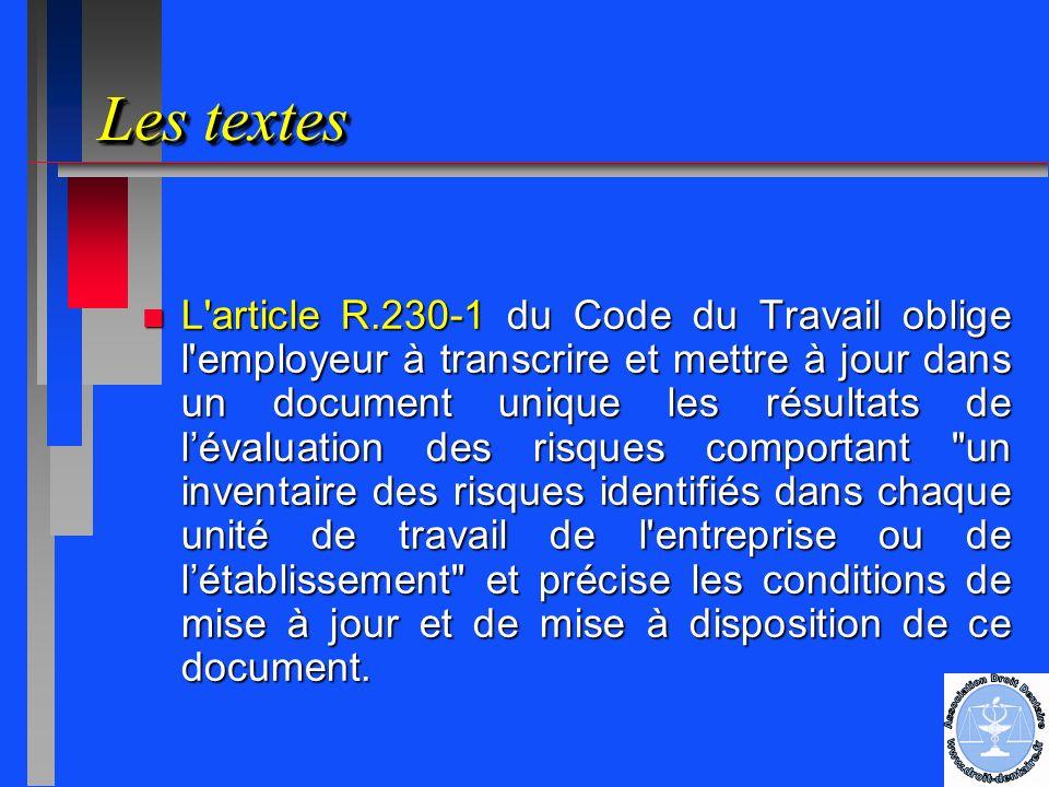 Le Document Unique Une Obligation Legale Le Document Unique Une