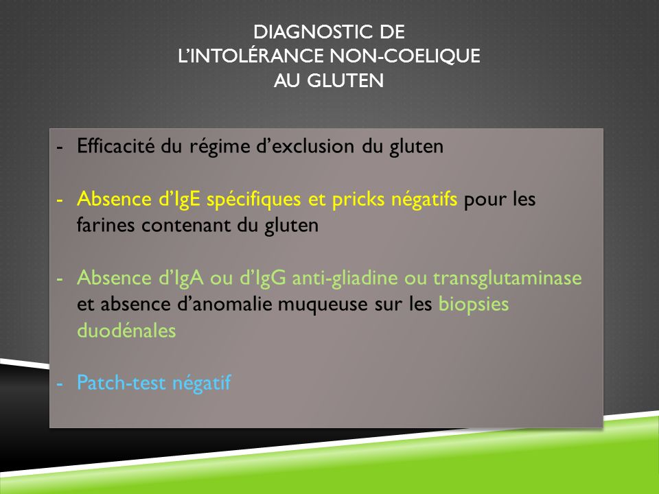 tests intolérance au gluten