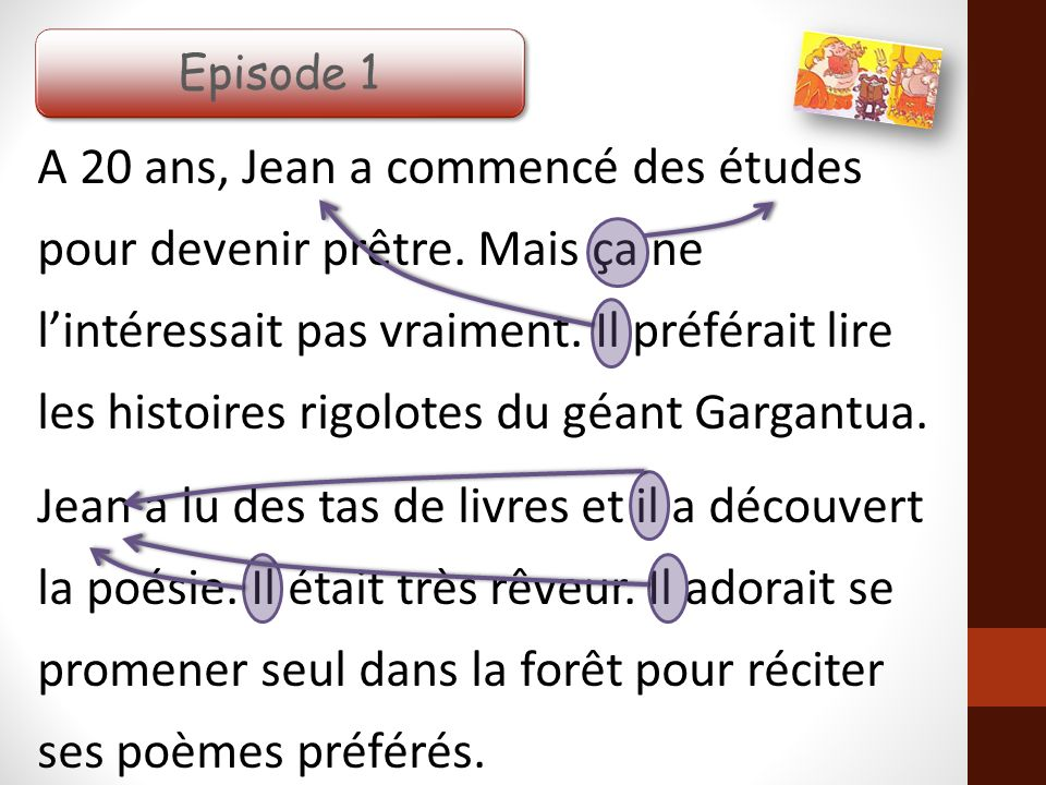Savoir De Qui On Parle A Partir Du Texte Jean De La