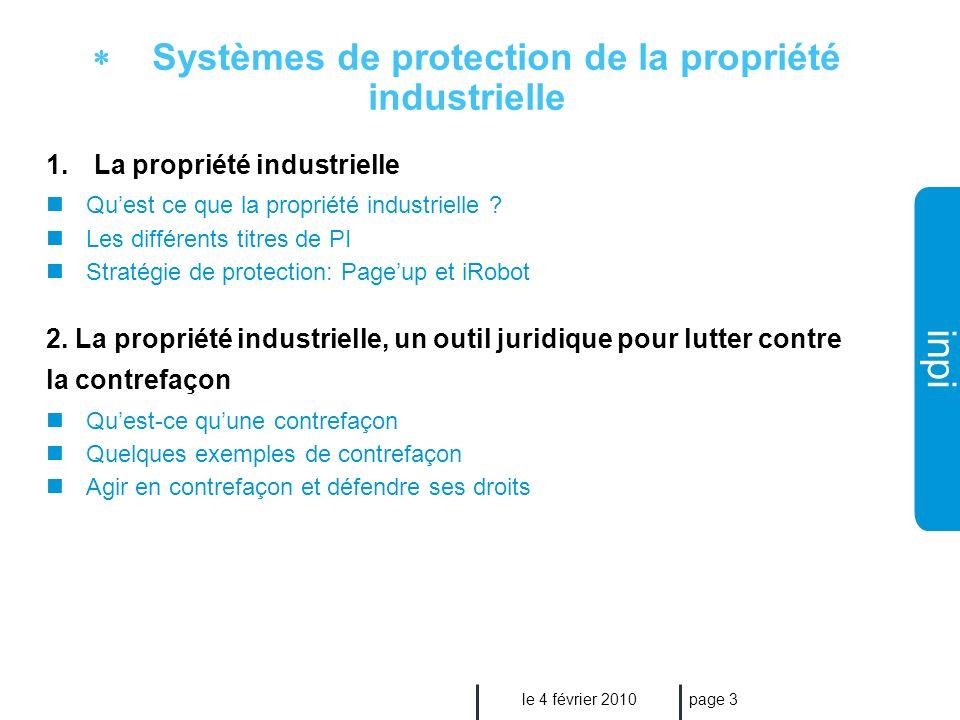 Industrielle Institut National De La Propriete Systemes De