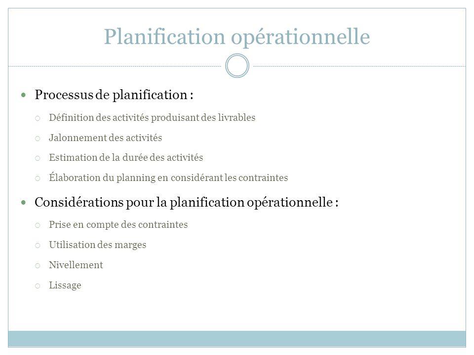 Sance 4 techniques pour la planification de projets sio gestion 19 planification oprationnelle processus de planification dfinition des activits produisant des livrables jalonnement des activits estimation ccuart Choice Image