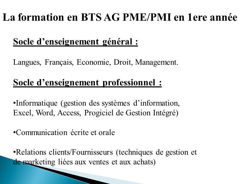 bts assistant de gestion pme pmi