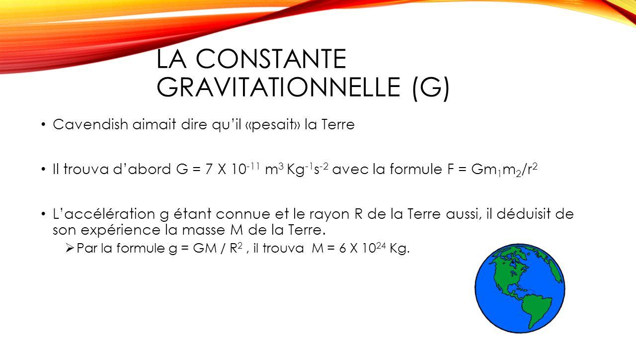 g constante