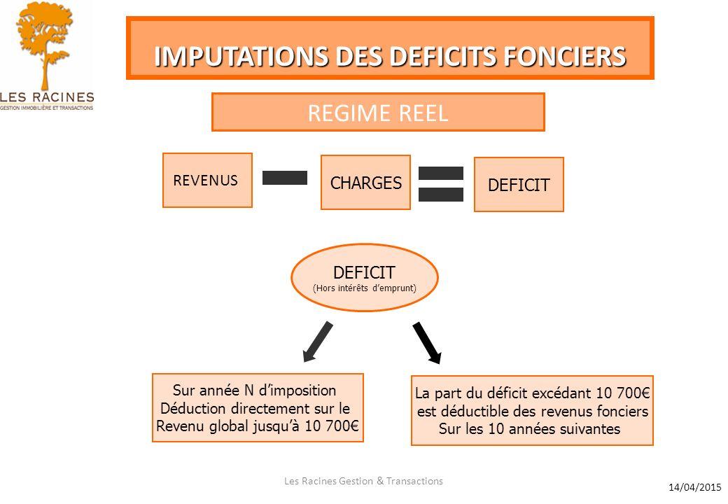 Les Racines Gestion Transactions Impositions Des Revenus Fonciers
