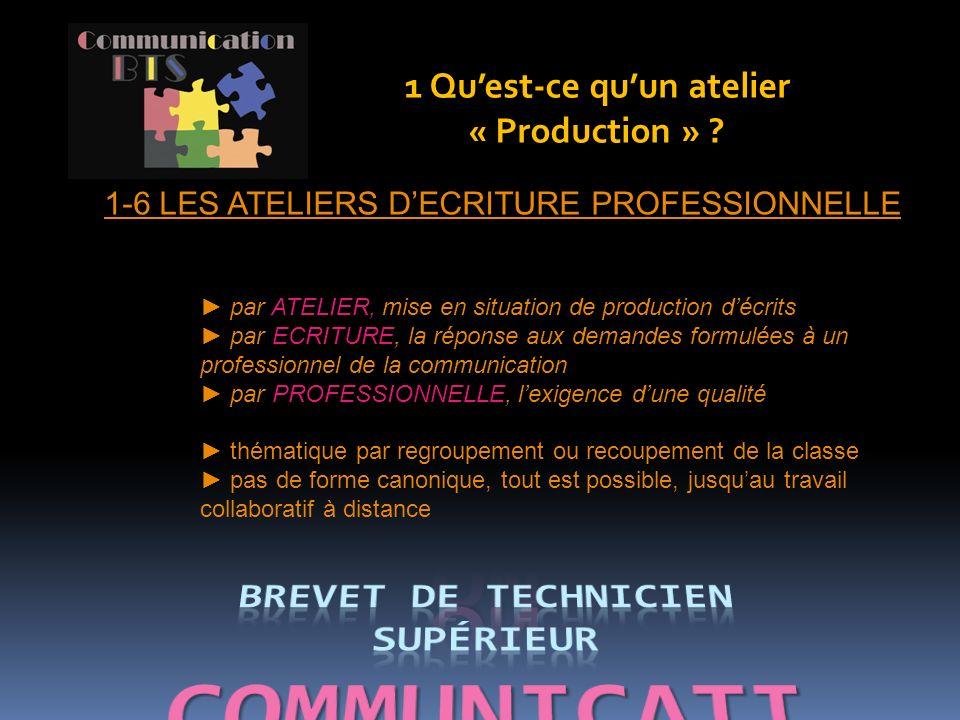 Les Ateliers Production 1 Qu Est Ce Qu Un Atelier Production 2