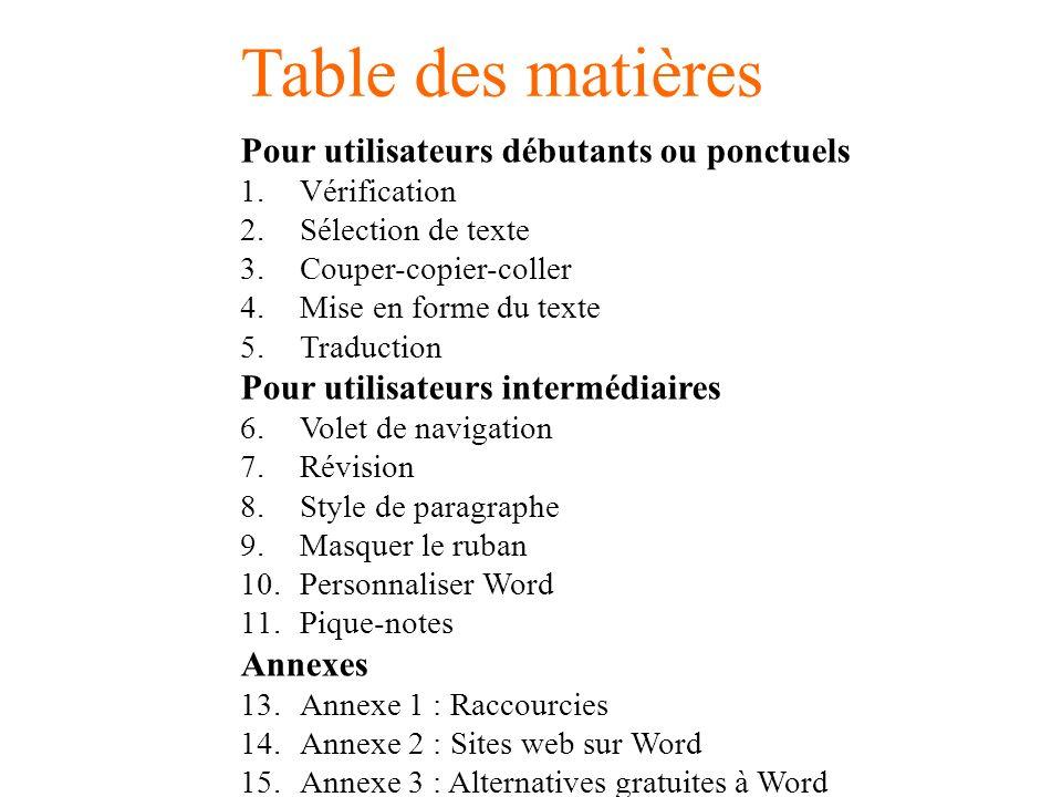 Mieux Utiliser Ms Word Pour Ms Word 2010 En Francais Version 1 0