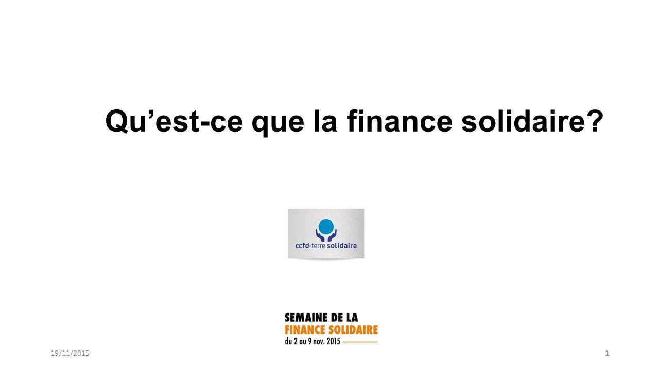 Qu Est Ce Que La Finance Solidaire 19 11 Finance Ethique