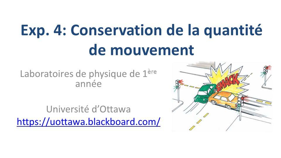conservation de la quantite de mouvement