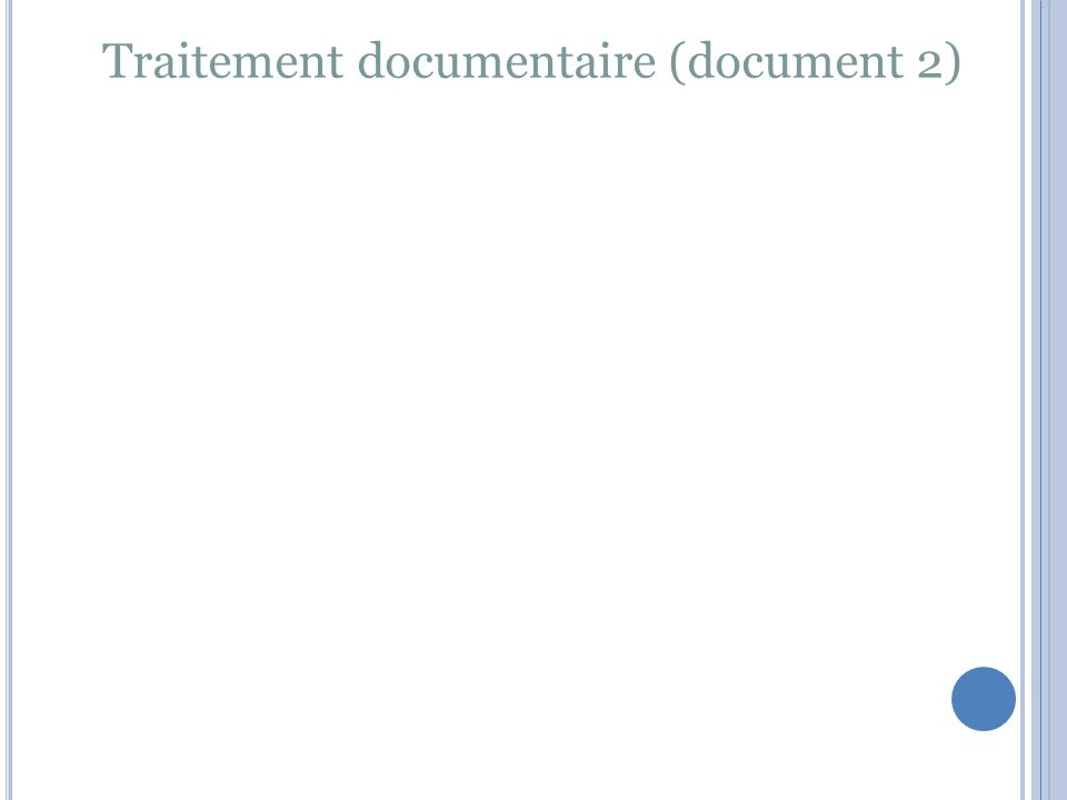Traitement documentaire (document 2)