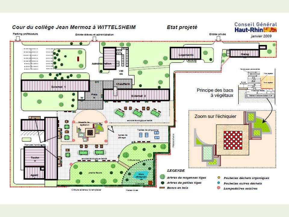 Favori La rénovation de la cour de récréation Collège Jean Mermoz  PR97