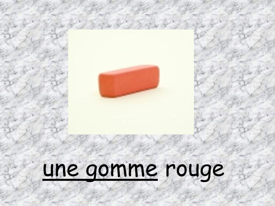 une gomme rouge