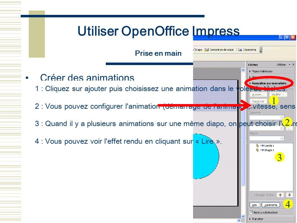 Utiliser OpenOffice Impress Prise en main La fenêtre
