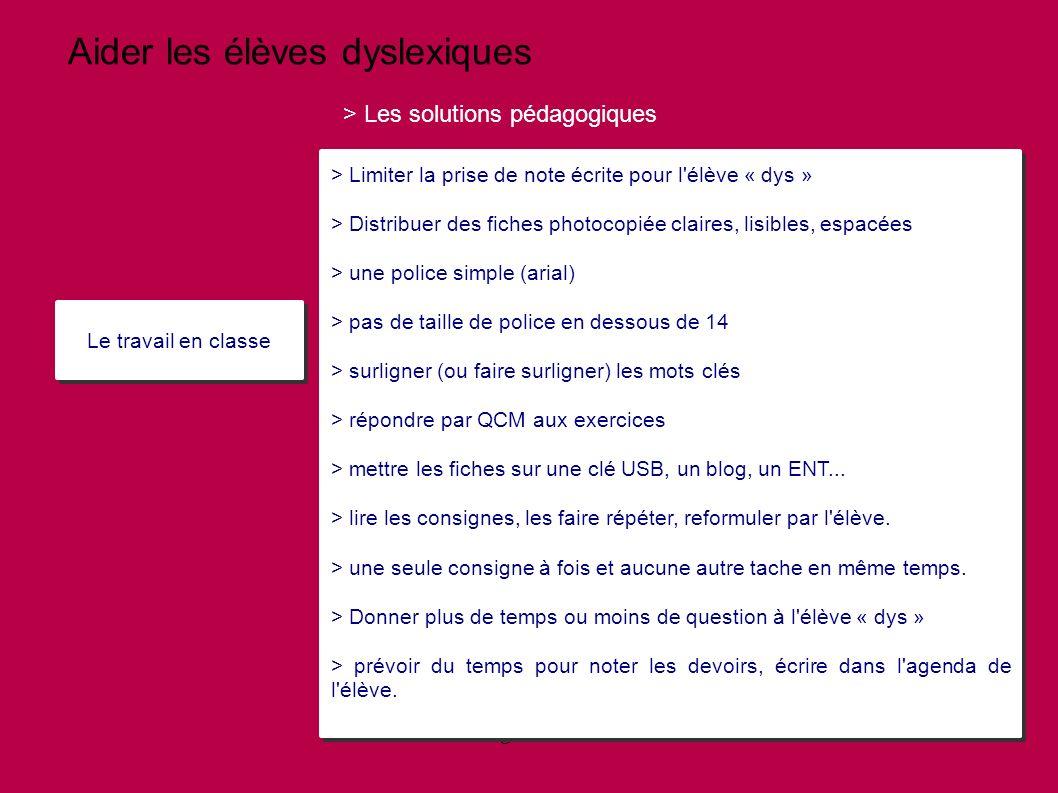 méthode travail pour dyslexie