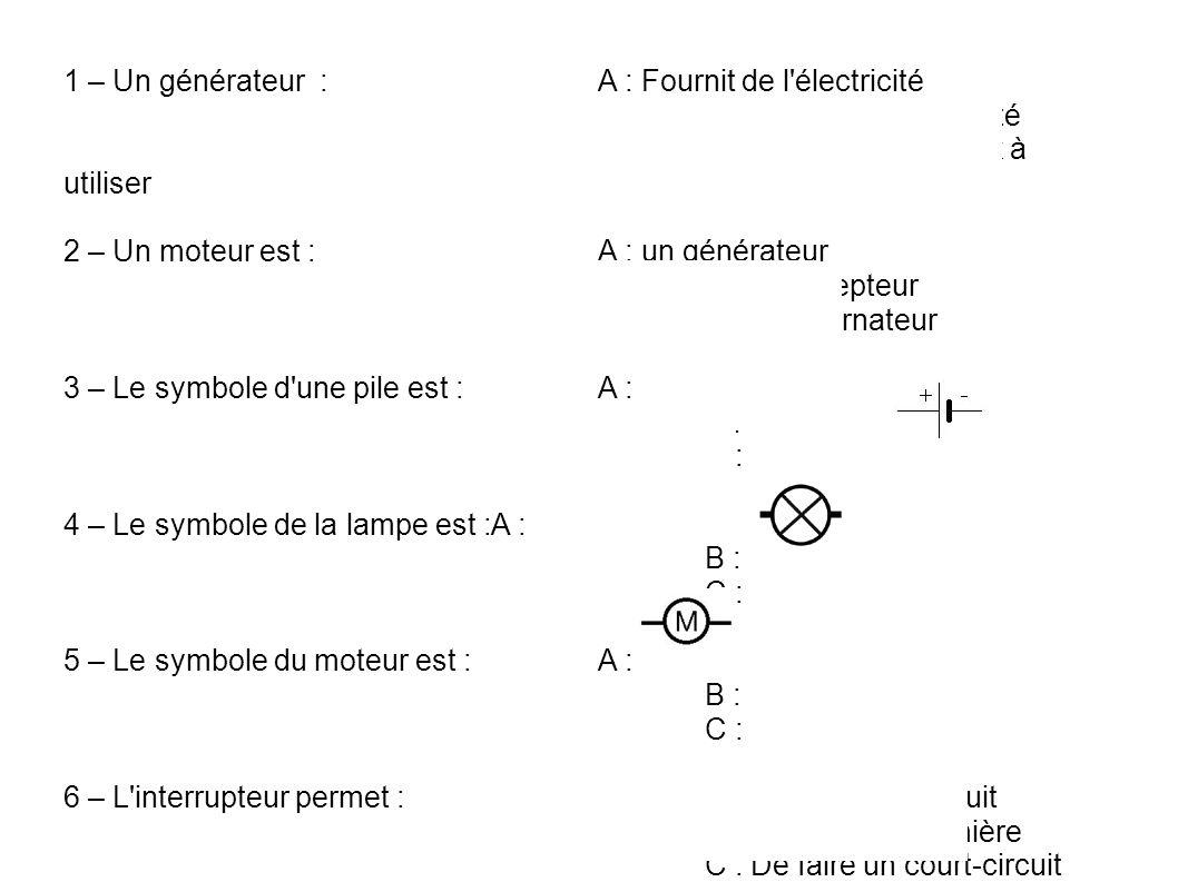 un moteur electrique est un recepteur