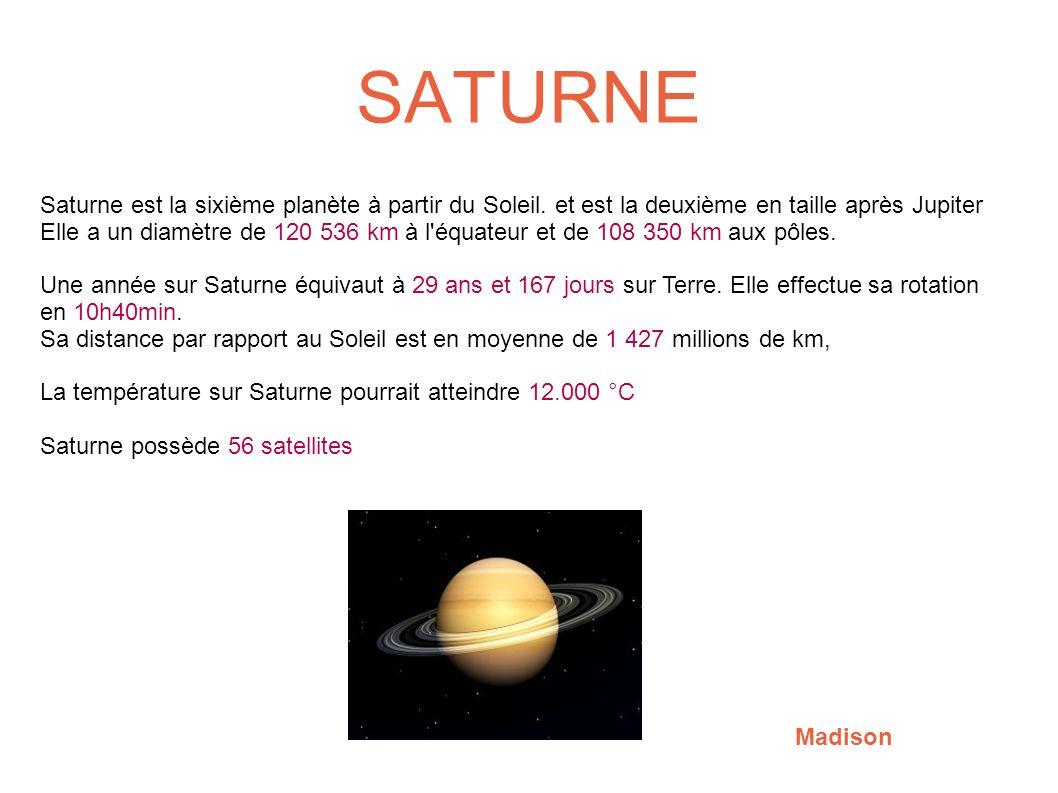 temperature moyenne de saturne