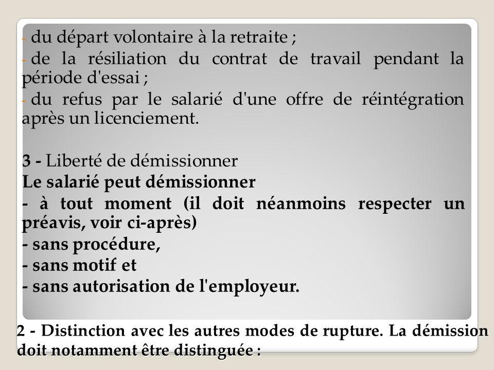 Les Autres Modalites De Rupture Du Contrat De Travail Ppt Telecharger