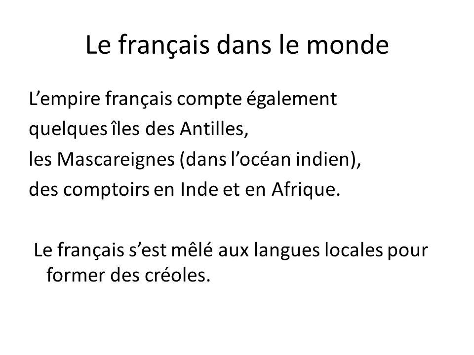 La Diffusion Du Français 1lenseignement Du Français 2le Français