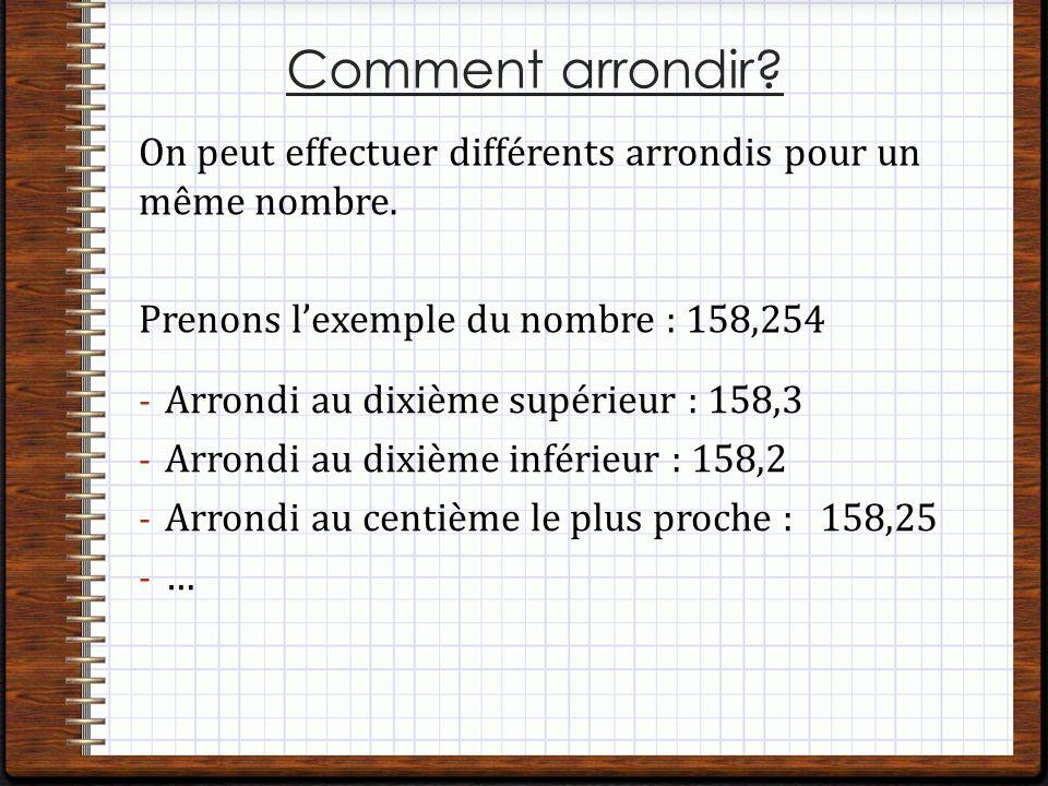 Numeratio N Arrondir Un Nombre Decimal Cm Ppt Telecharger