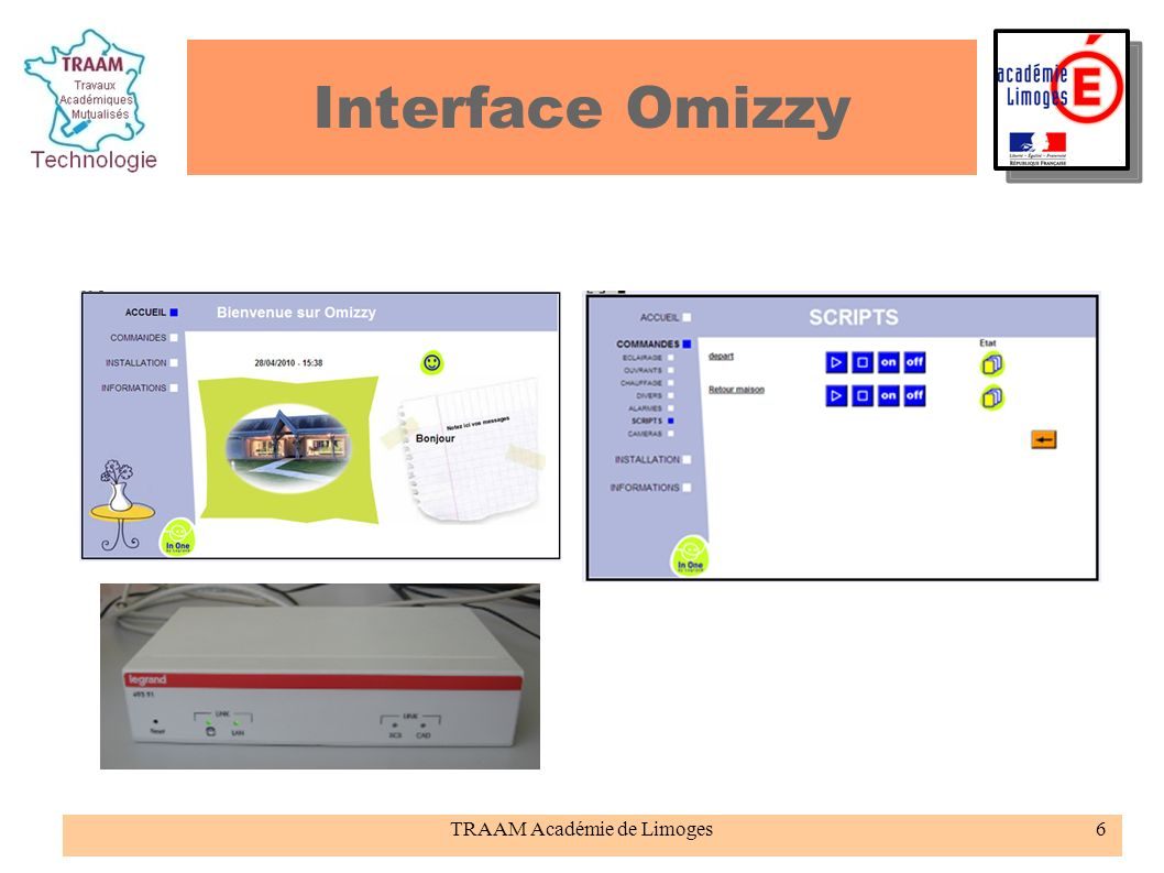 TRAAM Académie de Limoges6 Interface Omizzy