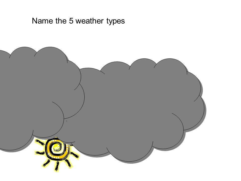 Name the 5 weather types