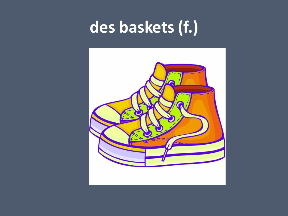 des baskets (f.)