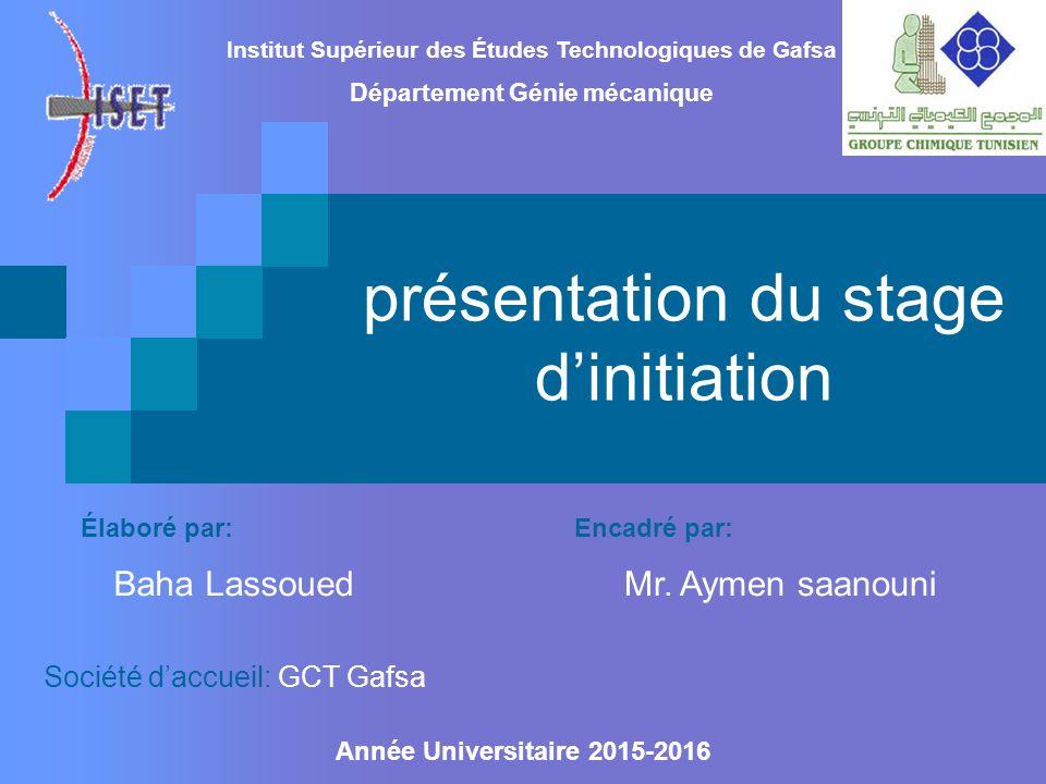 Présentation Du Stage D Initiation Institut Supérieur Des