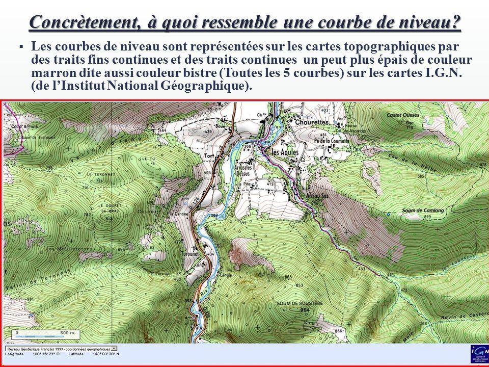 Carte Topographique Crete.Les Courbes De Niveau Tp N 2 En Geologie Concretement A
