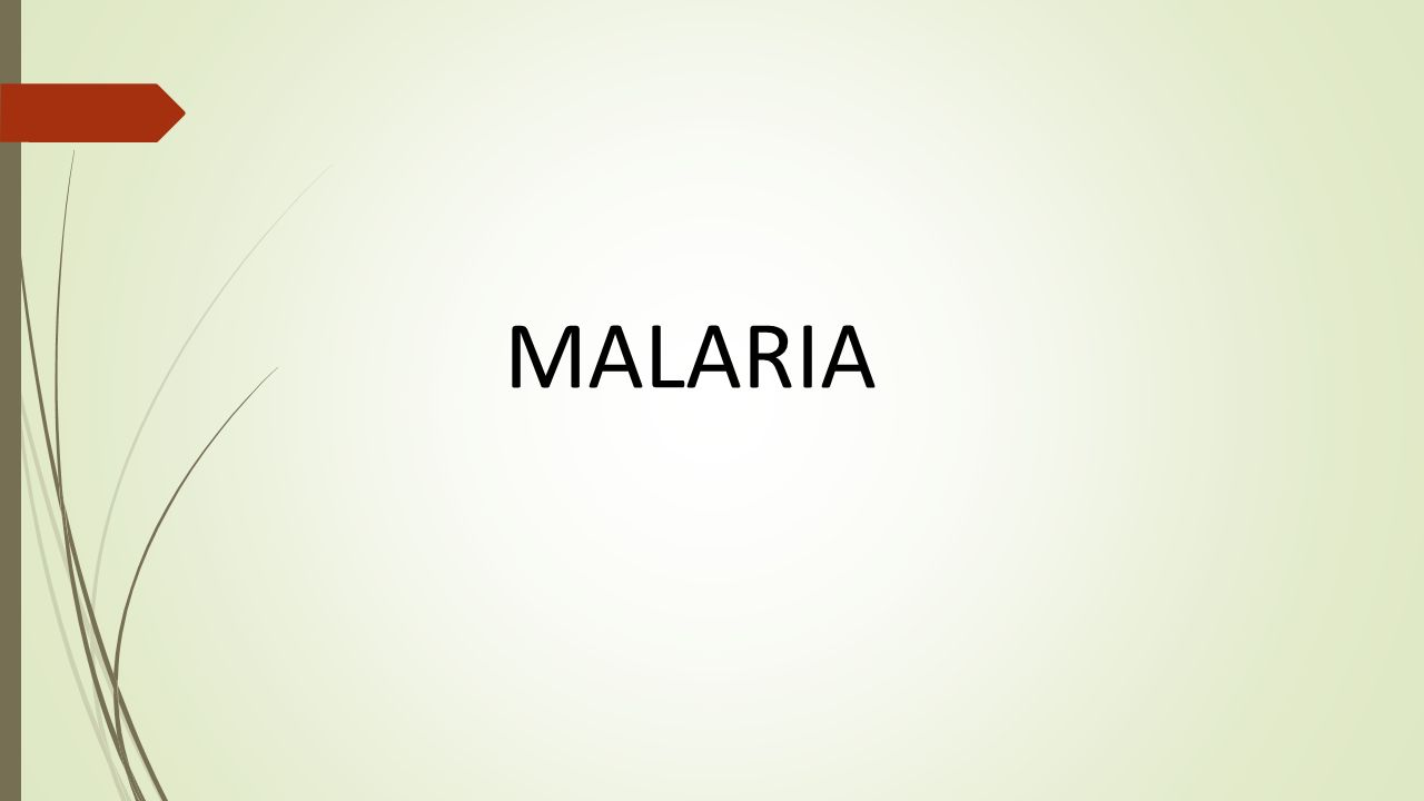 malaria.  plan i.public health importance ii.definition iii.signs
