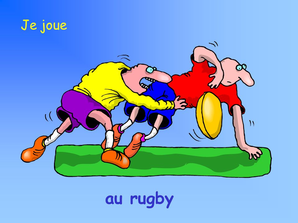 au rugby Je joue
