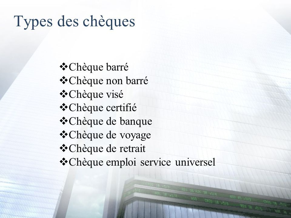 chèque certifié de banque
