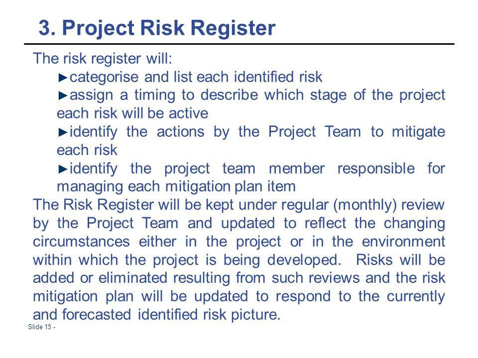 Slide 1 - PG Project Management Risk management  Slide 2 - AGENDA 1