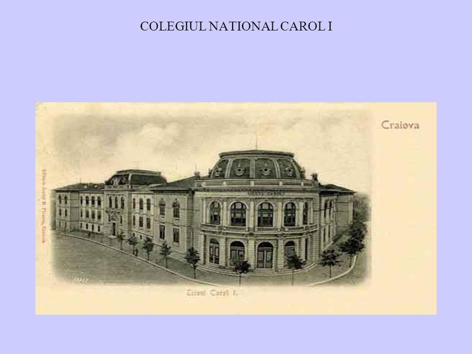 COLEGIUL NATIONAL CAROL I